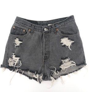 RARE VTG 1980'S LEVIS 17501 Distressed Shorts